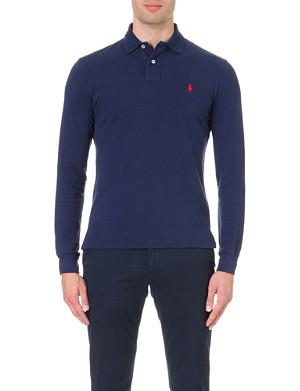 RALPH LAUREN Custom-fit long-sleeved polo shirt