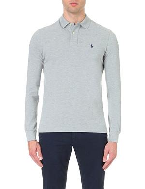 RALPH LAUREN Custom–fit piqué polo shirt