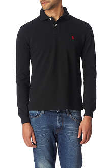 RALPH LAUREN Custom–fit piqué polo shirt