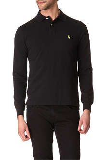 RALPH LAUREN Slim-fit long-sleeved polo shirt