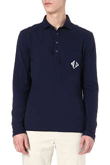 RALPH LAUREN Logo-detailed long-sleeved polo shirt