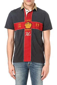 RALPH LAUREN Custom-fit woven collar rugby shirt