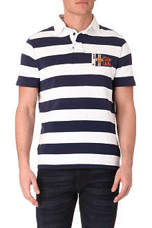 RALPH LAUREN Custom-fit striped rugby polo shirt