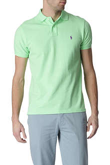 RALPH LAUREN Custom–fit mesh polo shirt