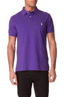RALPH LAUREN Custom-fit mesh polo shirt