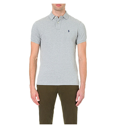 RALPH LAUREN Custom–fit mesh polo shirt (Heather