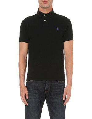 RALPH LAUREN Custom–fit mesh polo shirt