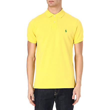 RALPH LAUREN Custom–fit mesh polo shirt (Graph.yllw