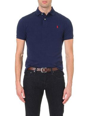RALPH LAUREN Slim–fit mesh polo shirt