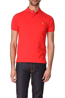 RALPH LAUREN Slim–fit mesh polo shirt