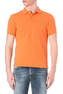 RALPH LAUREN Slim-fit mesh polo shirt
