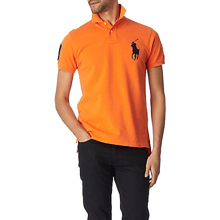 RALPH LAUREN Custom–fit polo shirt (Bedford orange/