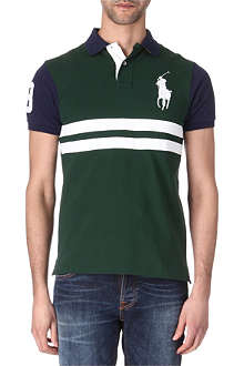 RALPH LAUREN Slim-fit striped big pony polo shirt