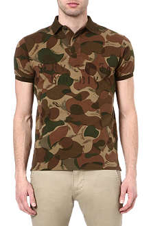 RALPH LAUREN Custom-fit camouflage polo shirt
