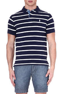 RALPH LAUREN Custom-fit wide-striped polo shirt