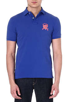 RALPH LAUREN Slim-fit crossed-mallet polo shirt