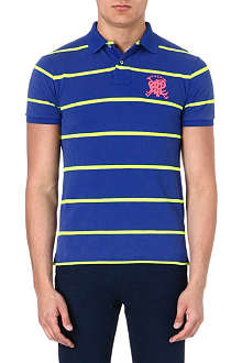 RALPH LAUREN Slim-fit stripe polo shirt