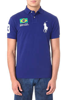 RALPH LAUREN Custom-fit flag polo shirt