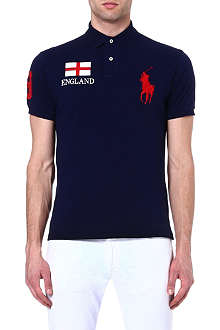 RALPH LAUREN Custom-fit flag polo shirt