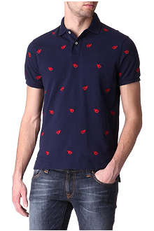 RALPH LAUREN Schiffli classic-fit lobster polo shirt