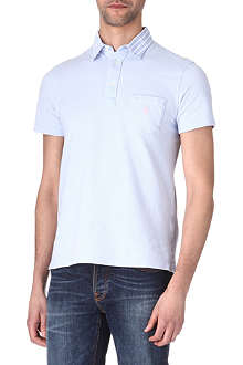 RALPH LAUREN Contrast-collar polo shirt