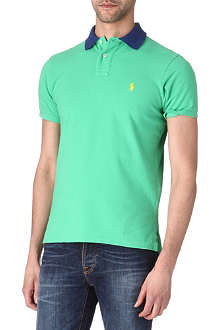 RALPH LAUREN Custom-fit contrast-collar polo shirt