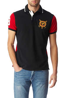 RALPH LAUREN Custom-fit Crest Colour-Block polo shirt
