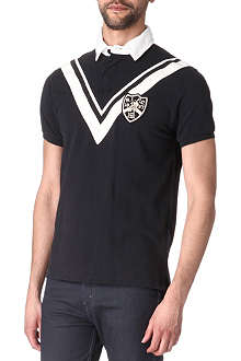 RALPH LAUREN Custom-fit medal-stripe Rugby top