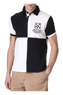 RALPH LAUREN Custom-fit patchwork Rugby top