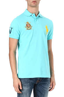RALPH LAUREN Slim-fit numeral sleeve polo shirt