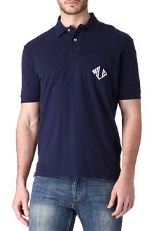 RALPH LAUREN Logo-detailed pocket polo shirt
