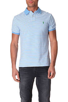 RALPH LAUREN Striped slim-fit polo shirt