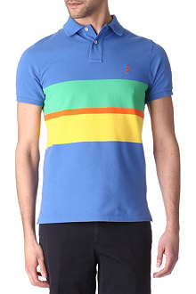 RALPH LAUREN Custom-fit block-stripe polo shirt