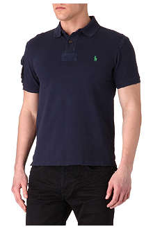 RALPH LAUREN Slim-fit pocket-sleeve polo shirt