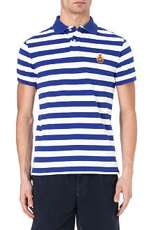 RALPH LAUREN Custom-fit crest-embroidery polo shirt