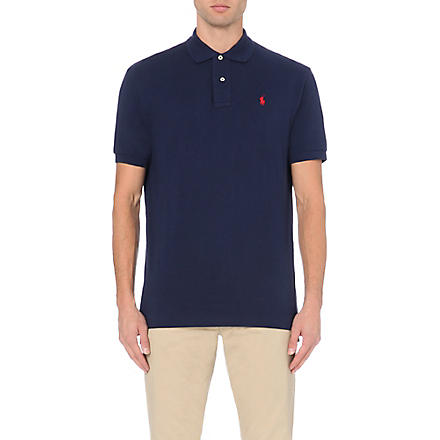 RALPH LAUREN Classic weathered mesh polo shirt (Newport+navy