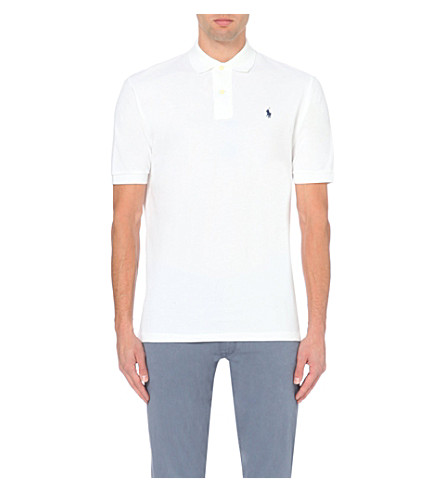 RALPH LAUREN Classic weathered mesh polo shirt (White