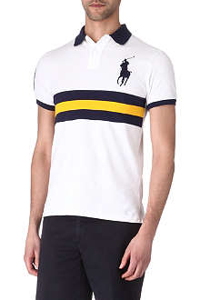 RALPH LAUREN Slim-fit striped polo shirt