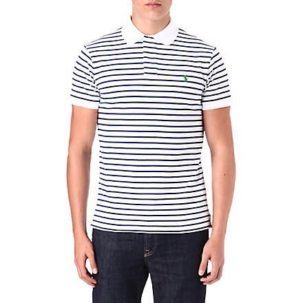RALPH LAUREN Custom-fit striped polo shirt (Classic+oxford