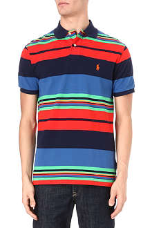 RALPH LAUREN Custom-fit multi-striped polo shirt