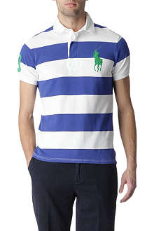 RALPH LAUREN Custom-fit Wide-stripe Big Pony polo shirt