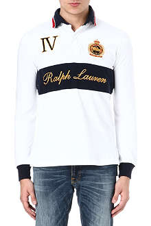 RALPH LAUREN Embroidered long-sleeve rugby shirt