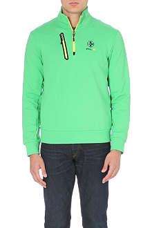 RALPH LAUREN Funnel-collar jersey sweatshirt