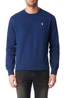 RALPH LAUREN Logo-embroidered crew-neck sweatshirt