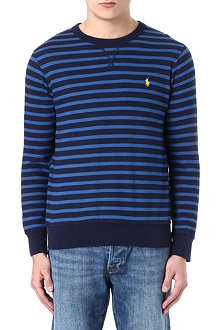 RALPH LAUREN Striped cotton sweatshirt