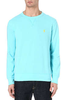 RALPH LAUREN Athletic cotton-mesh sweatshirt
