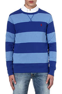 RALPH LAUREN Striped jersey sweatshirt