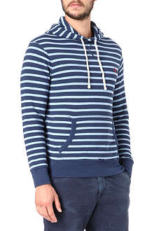 RALPH LAUREN Striped polo hoody