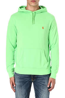 RALPH LAUREN Embroidered logo cotton hoody