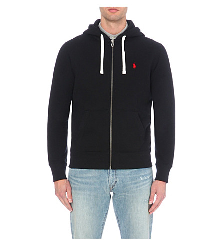 POLO RALPH LAUREN Zip-up cotton-blend hoody (Polo+back